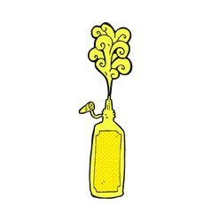 Comic cartoon mustard bottle vector