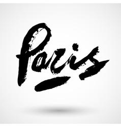 Paris grunge sign vector