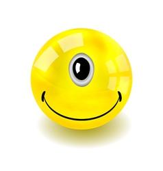 Cyclop Smilie Face vector image