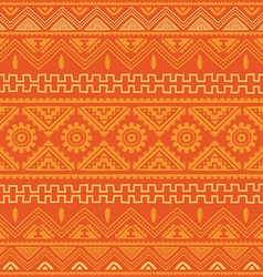 Orange native american ethnic pattern vector