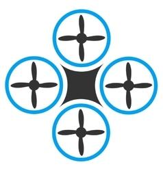Air Drone Icon vector image vector image