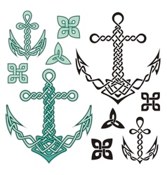 anchor celtic vector image