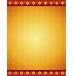ancient golden background with decorative ornament vector image