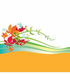 background leaves vector image vector image