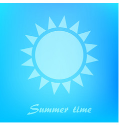 Beautiful blue background with sun icon vector