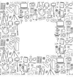 Blog object seamless frame vector