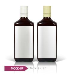 Bottles of scotch vector