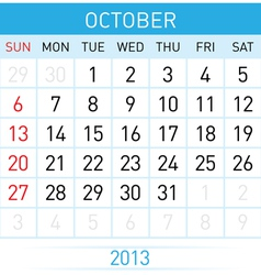 Calendar Month vector image vector image