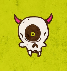 Cyclops skull cartoon vector