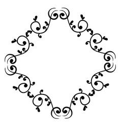 elegant victorian style frame vector image