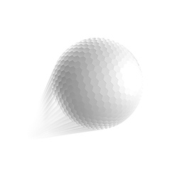 Golf ball fly vector