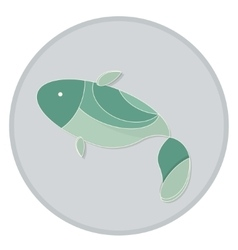 green fish vector image vector image