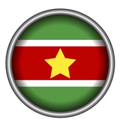 Isolated flag of suriname vector