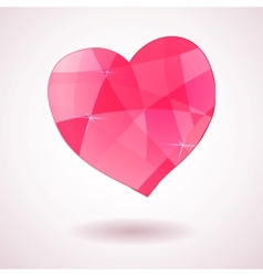 Pink geometric heart vector image