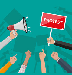 protest concept with megaphone vector image vector image