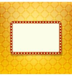 Retro golden frame vector