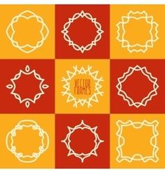 Set of abstract hipster emblems logo frames vector image
