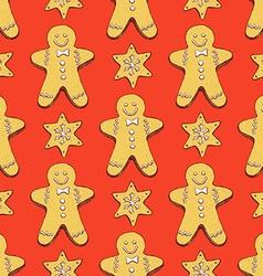 Sketch ginger bread cookies vector