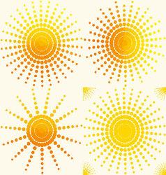 sun-set-pattern vector image vector image
