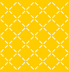 Tile yellow pattern with quilted background vector