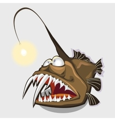 Toothy fish lamp character or icon for design vector