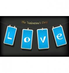 valentine hanging labels vector image