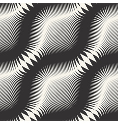 wavy striped pattern vector image vector image