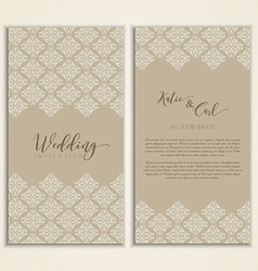 wedding invitation 1509 vector image