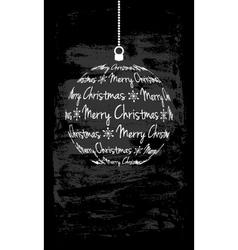christmas monochromatic card vector image
