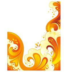 drink wave background vector image