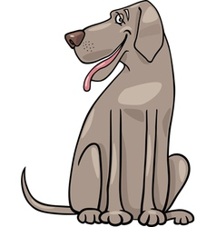 great dane dog cartoon vector image