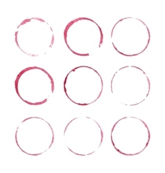 Red wine stains vector image