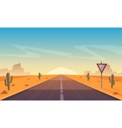 Desert Road vector image
