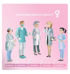 Cartoon healthcare medical collection vector