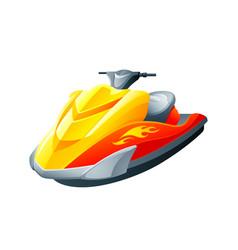 Sport motorboat vector