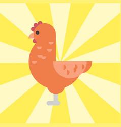 Cute cartoon rooster chicken vector