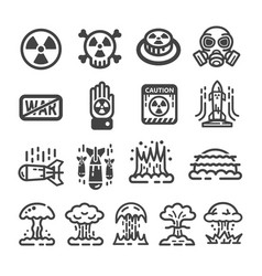 nuclear war icon vector image