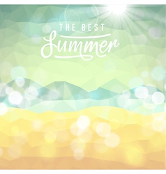 Summer tropical beach background vector