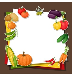 Background design with fresh ripe stylized vector image