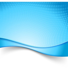 Blue power swoosh wave background vector