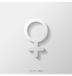 Female symbol woman vector