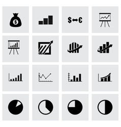 Economic icon set vector