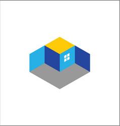 3d building logo vector