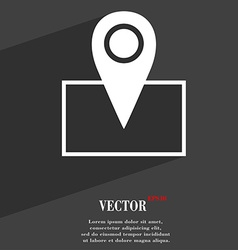 Map pointer icon symbol flat modern web design vector