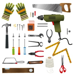 Construction hand tools vector