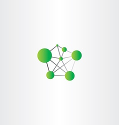 Molecule icon green logo vector