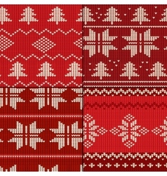 Knitting pattern set vector