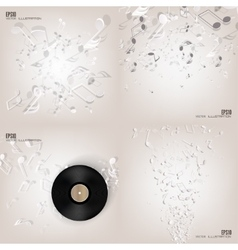 Abstract musical background with notes music vector
