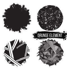 Set grunge elements abstract backgrounds vector