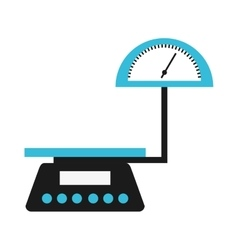 Balance scale measure weight icon vector